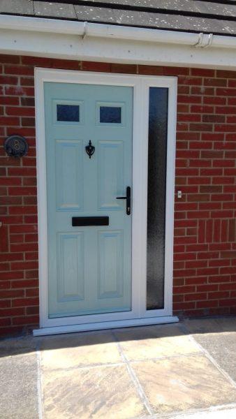 composite door in blue